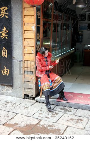 Street Vendor Woman