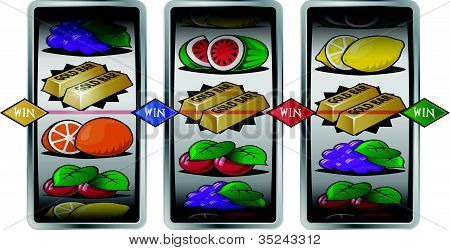 Slot Machine Winning Reels