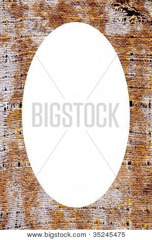 Old Material Texture And White Oval In Center