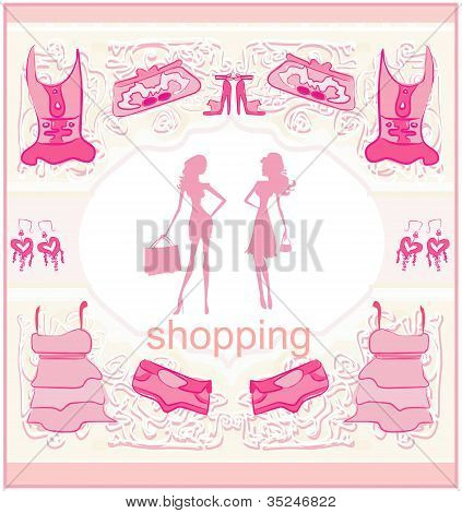 Fashion Silhouettes Girls Shopping set