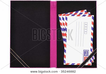 Classic Air Mail Envelope Card Book