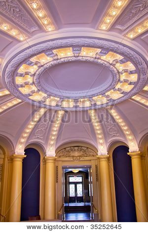 Yale University Woolsey Hall School Of Music Interior Lights Building Dome