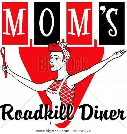 Retro Diner or Restaurant Sign Clip Art