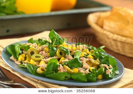 Tuna Olive Sweetcorn Salad