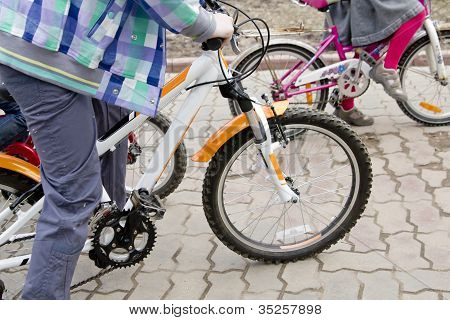 Children Riding Bike