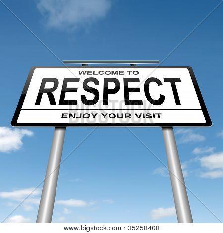 Respect Concept.