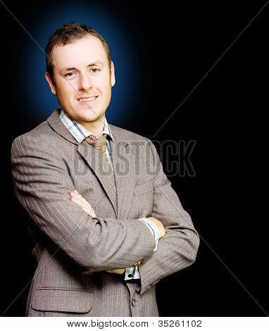 Happy Ambitious Young Business Person With Smile