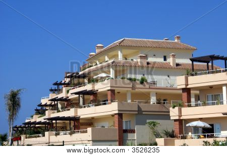 Exterior Of Holiday Vacation Apartments In Spain