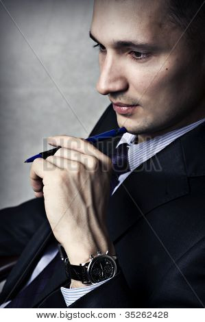 Fashion Portrait Of Success Business Man