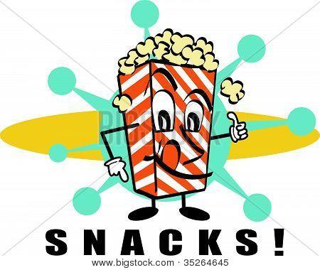 Snack Popcorn Clip Art