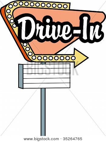 Drive In Sign Clip Art
