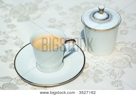 Sugar Bowl And Coffee Cup