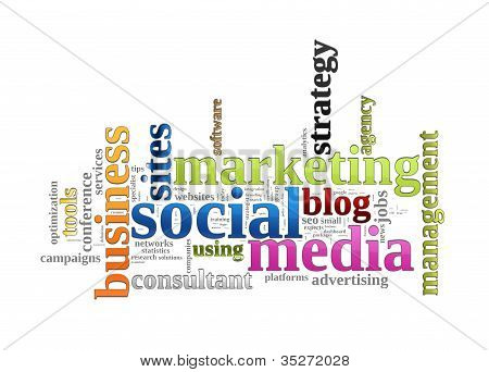 Social Media Marketing palabra nube