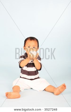 Cute Toddler Drinking Milk