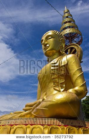 Side Of Biggest Image Of Buddha In Wat Phrataddoitae 2