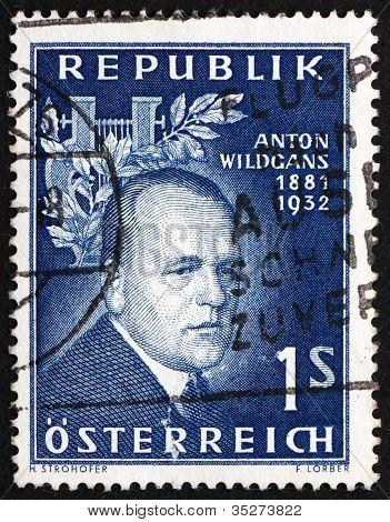 Postage stamp Austria 1957 Anton Wildgans, Poet