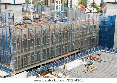 Construction Site With Screens