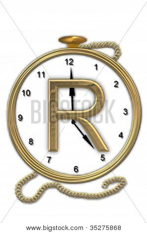 Alphabet Pocket Watch R