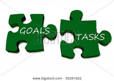 Goals And Tasks Go Together