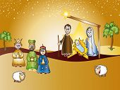 pic of christchild  - illustration of nativity with joseph - JPG