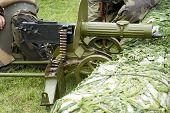 image of maxim  - Old Powerful Military machine Gun  - JPG