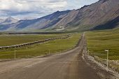 foto of trans  - trans alaska pipeline along the Dalton Road - JPG