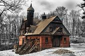stock photo of sate  - Carriage house in New York Sate on Wilderstein - JPG
