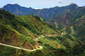 picture of luzon  - Road in Cordillera Mountains Luzon island Philippines - JPG