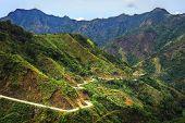 stock photo of luzon  - Road in Cordillera Mountains Luzon island Philippines - JPG