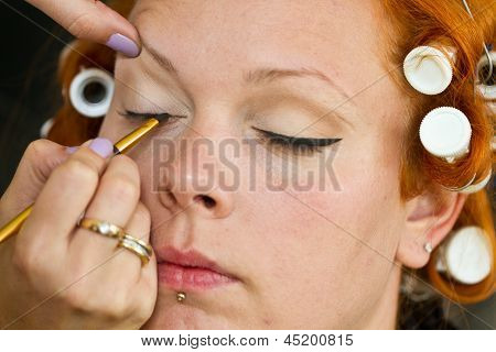 Make Up Artist At Work