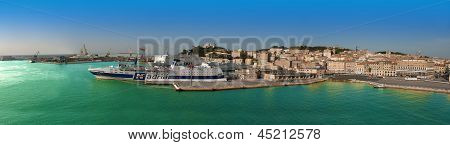 Panorama Of Ancona Port, Italy