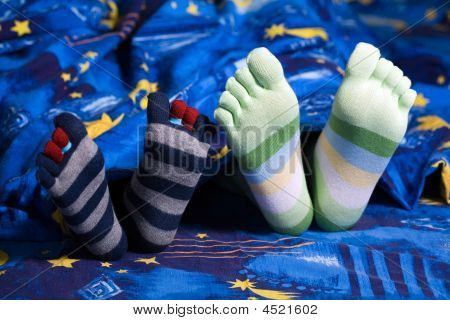 Füße in Socken