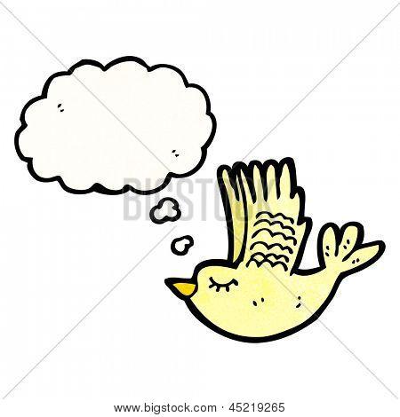 cartoon swooping bird