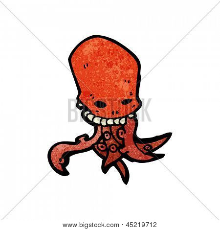 cartoon tentacle skull monster