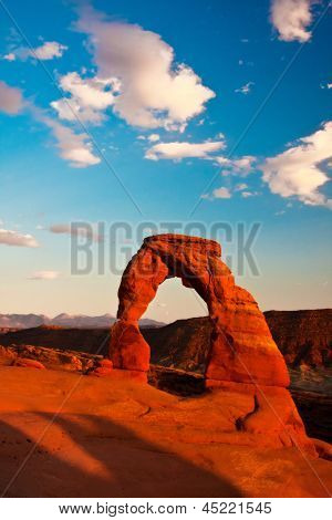 Dedicate Arch Sunset in Arches National Park, Utah