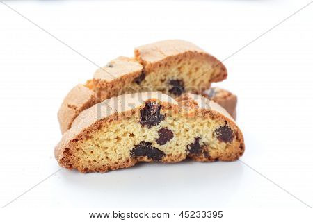 Tasty Cantucci On White Background