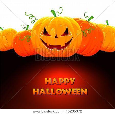 Ilustración de vector de calabaza de Halloween