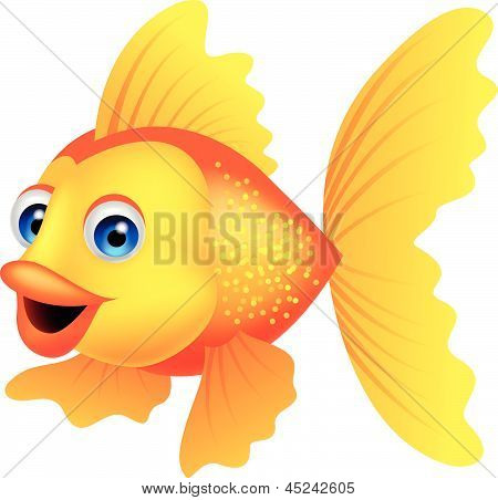 Golden fish cartoon