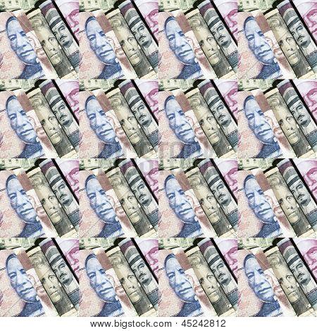 Geld aus dem Ausland-Hintergrund
