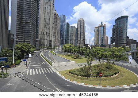 Lujiazui Finance&trade Zone Of Modern Urban Architecture Backgrounds Landscape