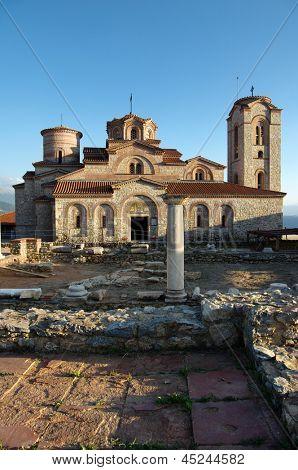Saint Panteleimon monastery situated on Plaosnik in Old Ohrid, Republic of Macedonia