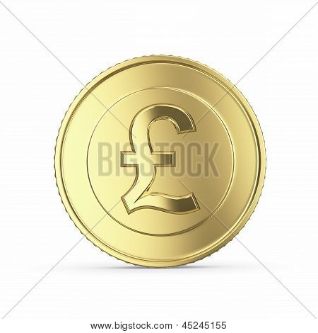 golden pound coin