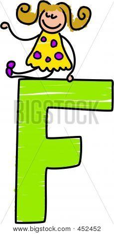 Chica de la letra F