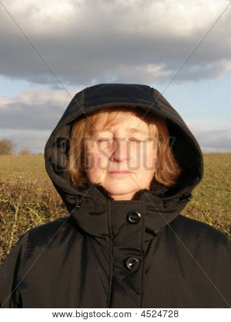 Woman In Winter Sun