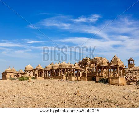 Bada Bagh cenotaph, Jaisalmer, Rajasthan, India