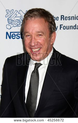 "LOS ANGELES - MAY 6:  Tim Allen arrives at the 2013 Midnight Mission's ""Golden Heart Awards"" at the Beverly Wilshire Hotel on May 6, 2013 in Beverly Hills, CA"