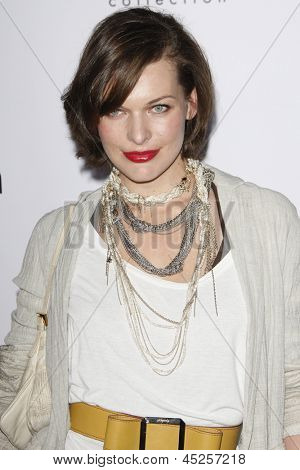 LOS ANGELES - JAN 28: Milla Jovovich at the Calvin Klein Collection & LA Nomadic Division 1st Annual Celebration For L.A. Arts Monthly + Art LA Contemporary on January 28, 2010 in Los Angeles, CA