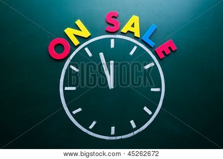 Time For On Sale Concept