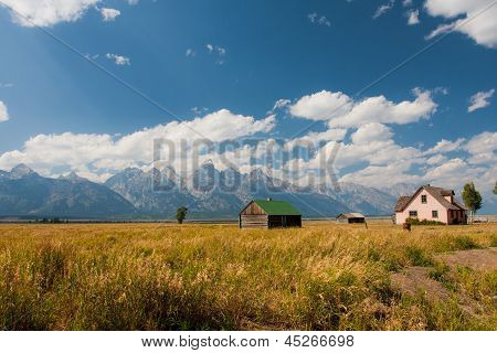 Mormon Row in Grand Teton National Park,USA