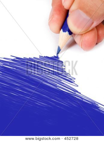 Blue Color Drawing